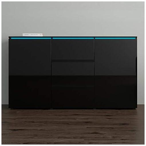 Kitchen Euphoria 03 Modern 59″ Sideboard (Black) modern buffet sideboards
