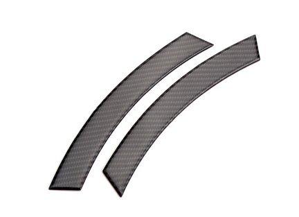 Black Carbon Fiber Fender Protect Trims for BMW 7 Series F01 F02 2012-2016 730i 740i 750i 760i