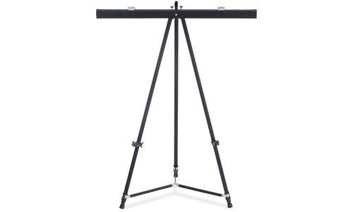 "Telescoping Easel Pad Holder - 27.9"" Length - Aluminum - Bla"
