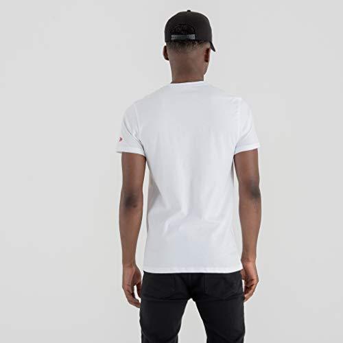 New Detroit nbsp;– Detpis Logo shirt Tee whi Ligne nbsp;t Adulte Pistons Era Mixte Team Blanc rqzRrS