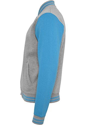 Sweatjacket Homme 2 tone Classics College Urban Blouson turquoise Grey 4IT6wUq