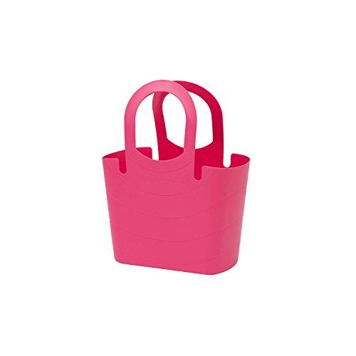 Borsa spiaggia, plastica flessibile multiuso LUCY 6,5 Lt colore: rosa indiano