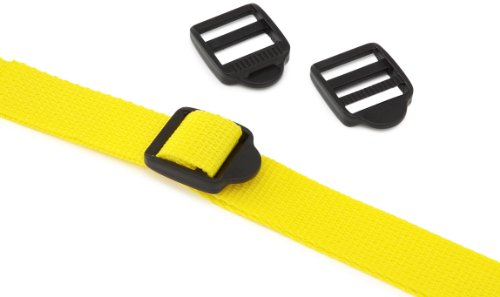 (PROGRIP 502600 Light Duty Cargo Tie Down Lashing Strap with Yellow Webbing: Customizable with Slip Lock Buckle, 12' x 1
