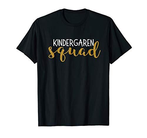 Kindergarten Squad Kinder Teacher Cute Funny Gift T Shirt ()