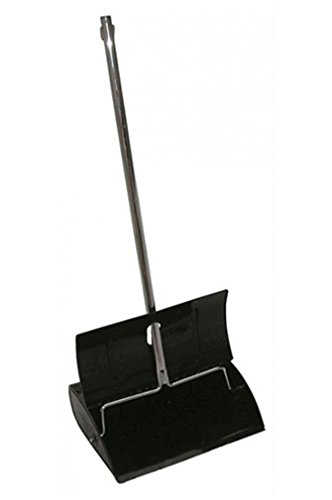 Boss Cleaning Equipment B010036 Deluxe Hooded Metal Lobby Dust Pan ()