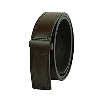 Dickies Men's Leather Work Belt - Tactical Industrial Mechanic Heavy Duty Strength Strap Covers No Scratch Buckle,-brown, 2X