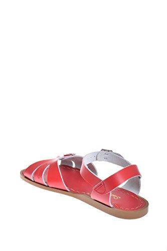 Picture of Salt Water Sandals HOY Shoe Girls' Salt Water Classic Flat Sandal, red, 6 W8 M US Big Kid