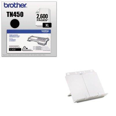 - KITBRTTN450FEL21100 - Value Kit - Fellowes BookLift Adjustable Desktop Copyholder (FEL21100) and Brother TN450 TN-450 High-Yield Toner (BRTTN450)