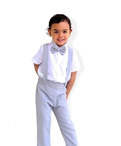 c2fb0c98f61 Amazon.com  Boy Suspender Pants-Light grey