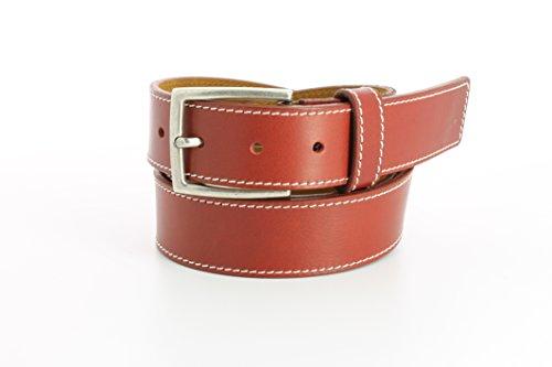 Remo Tulliani Men's 35mm Wide Enzo Italian Calfskin Leather Casual - Calfskin Tulliani Belt