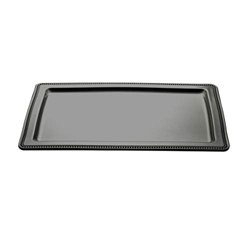 Elite Global Solutions M1812RC-B Rectangular Tray (Fits M74P Pedestal), 18