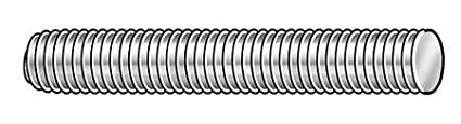 5//8-11 x 6 Plain 316 Stainless Steel Fully Threaded Studs 2 pk.