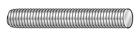 1-1//8-8 x 6-1//2 Plain Alloy Steel Fully Threaded Studs 4 pk.
