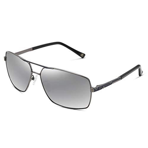 Aviador para conducción Gran de Hombres C A de Nuevo polarizadas de de Running Metal Espejo UV Gafas sol Vogue Marco Color wE6qPva
