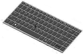 HP L14377-BG1 Teclado Refacción para Notebook - Componente para Ordenador Portátil (Teclado, Suizo, Retroiluminación de Teclado, EliteBook 745 G5): ...