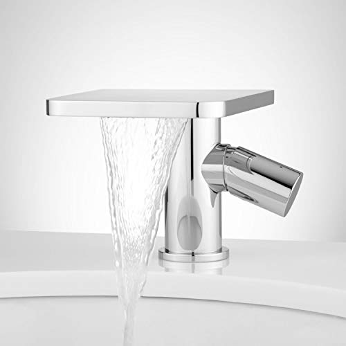 Signature Hardware 405372 Knox 1.2 GPM Single Hole Bathroom Faucet with Pop-Up Drain Assembly