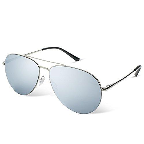 a Polarizzato TL guiar Non piloto gafas Gafas Silver de azul hombres sol Sunglasses de para hombres los gafas aviador zHHnwBtvr