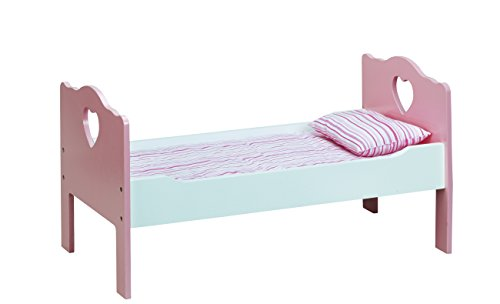 Beverly Hills Doll Wooden Bed & Bedding - Fits American girl 18'' Doll