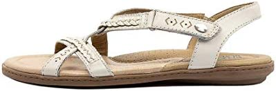 PLANET Cherie White Leather White Womens Flat Sandals Summer
