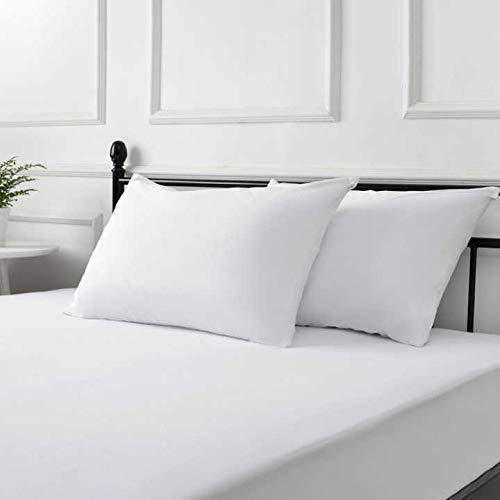 - SLEEPARK Hypoallergenic Zippered Cotton Waterproof Pillow Protector - Vinyl Free - Pack of 2 - Standard