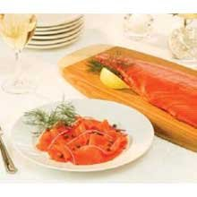 Portlock Nova Smoked Sockeye Salmon Sliced Fillets, 1 Pound -- 12 per case.