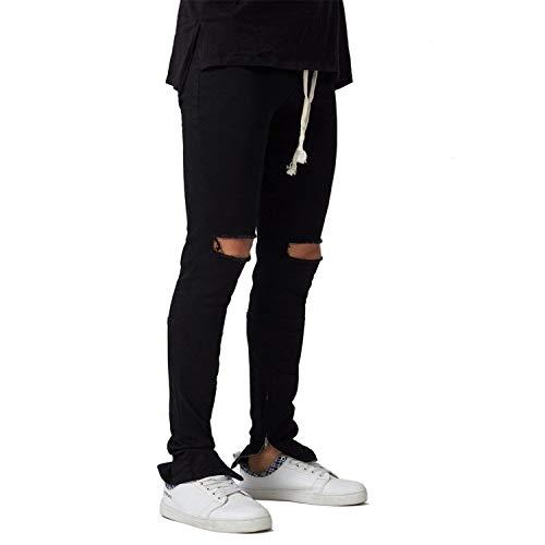 Slim Casual Strappati Frey Ragazzi Disperati Fori Jeans Uomo Blu Fit Classiche Stretch Da Pantaloni Denim Skinny OcFW44B
