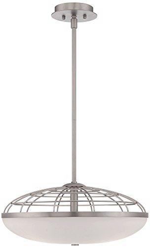 possini euro design industrial open cage glass pendant light