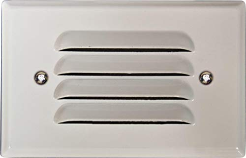 Dabmar Lighting LV617-W Cast Aluminum Recessed Louvered Brick/Step/Wall Light, White