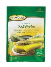 Mrs. Wages Quick Process Dill Pickle Canning Mix, 6.5 Ounce (VALUE case of 12)