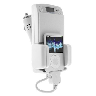 - Apple Ipod 6-in-1 White Fm Transmitter Car Kit with Remote and Car Adapter for Ipod 3rd, 4th, 5th Generation, Mini, Photo, U2, Nano 2nd Gen, Video, Classic, Touch