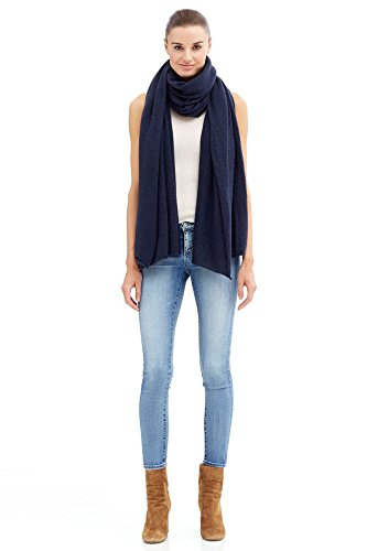 NAKEDCASHMERE Women's Karlie Wrap O/S Navy by NAKEDCASHMERE
