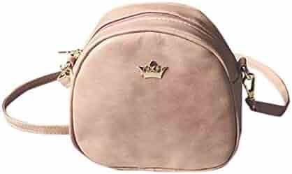 153d6559fd Yihaojia Fashion Messenger Bags PU Leather Shoulder Bag Mini Bag Crown  Evening Bag for Women (