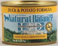 Natural Balance Pet Food L.I.D. Canned Dog Food Duck and Potato -- 6 oz