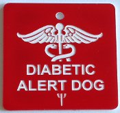 Diabetic Alert Dog tag for small animals