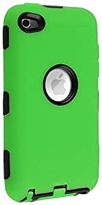 eForCity Hybrid Case for iPod touch 4G (Black/Green)