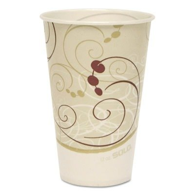 SCCR12NSYM Waxed Paper Cold Cups, 12 oz., Symphony Design