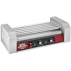 Great Northern Commercial Quality 12 Hot Dog and 5 Roller Grilling Machine with Cover, 1000-Watt