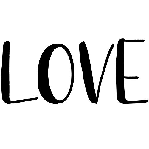 Love Vinyl Wall Decal | Home Sticker Lettering Quote for Home Decor | Art Room Decoration Word to Celebrate Family and Friends