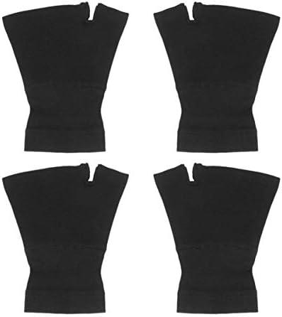 Healifty 2 Paar Pflegebänder Elastische Handgelenkstütze Bänder Handgelenkstütze Bänder Handgelenkschoner mit Daumenloch Größe M Schwarz