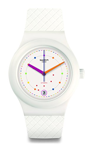 Swatch Men's Originals SUTW403 White Rubber Automatic Fashion (Swatch Automatic Watch)