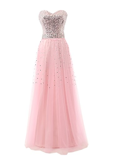Belle House Pink Long Maid of the Honor Dresses Prom Party Gowns