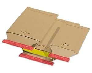 75STK. Bolsa de envío de cartón Toppac TP360, 320x 455mm, A3, SK, aufr eiß ayuda, color marrón