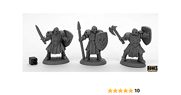 1x maggotcrown men at arms axe-bones reaper miniature dreadmere rpg 44034r