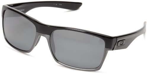 Oakley Twoface Polarized Rectangular Sunglasses,Polished Black,One - Hut Sunglass China