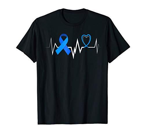 Heartbeat Blue Ribbon Diabetes Awareness Shirt Women Men -