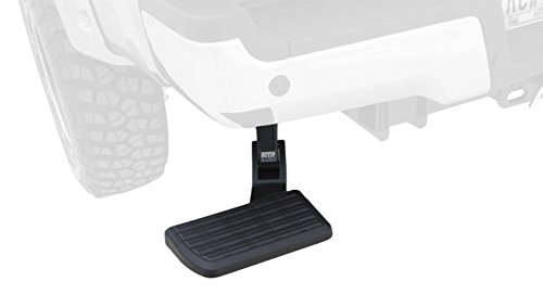 AMP Research 75313-01A BedStep Flip Down Bumper Step, Black (Amp Research Truck Steps)