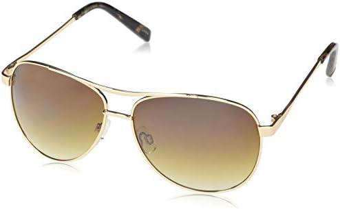 Jessica Simpson Women's J106 Stylish UV Protective Metal Aviator Sunglasses | All-Season | A Glam Gift, 60 mm