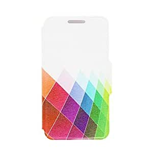 JJEKinston Color Diamond Pattern PU Leather Full Body Case with Stand for iPhone 5/5S