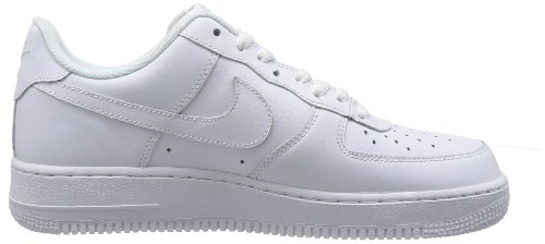 best service 08359 7542f Nike Mens Air Force 1 Low WhiteWhite Leather Casual Shoes 16