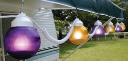 Polymer Products (166001523 Purple/Yellow String Light, (Set of 6)